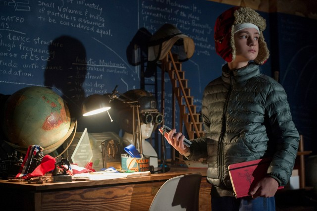"Gifted kid Henry Carpenter (Jacob Lieberher) creates a blueprint for bringing an abusive neighbor to justice in ""The Book of Henry."""