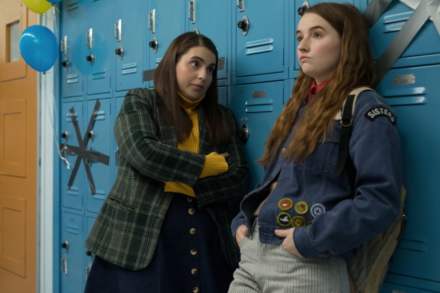 "Goal-oriented best friends Molly (Beanie Feldstein) and Amy (Kaitlyn Dever) decide to cut loose at a graduation party in the high school comedy ""Booksmart."""