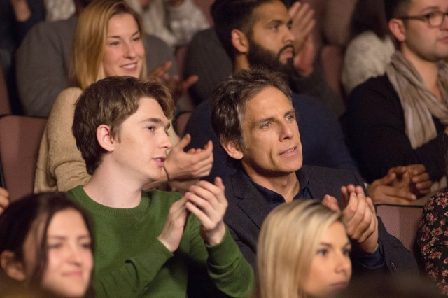"In ""Brad's Status"", a father (Ben Stiller) and son (Austin Abrams) take a trip to look at East Coast colleges to which the teenager is planning to apply."