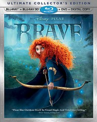 Brave Blu-ray 3D combo pack cover art