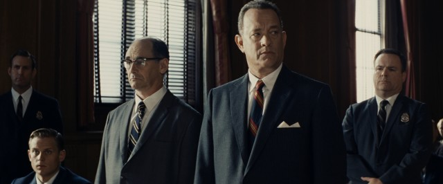 "In ""Bridge of Spies"", James Donovan (Tom Hanks) is appointed to defend Rudolf Abel (Mark Rylance), a man captured in America and tried as a Soviet spy."