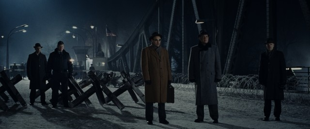 "The climax of ""Bridge of Spies"" brings James Donovan (Tom Hanks) and Rudolf Abel (Mark Rylance) to the titular bridge where a prisoner exchange is scheduled."