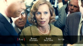 Amy Ryan appears on the Bridge of Spies DVD main menu as Donovan's period-accurate housewife.