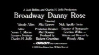 "The ""Broadway Danny Rose"" theatrical trailer illustrates that Woody Allen has been using white Windsor text on black for a really long time."