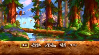 The old animated DVD main menus of Brother Bear...