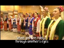 "The Bulgarian Women's Choir performs ""Transformation"" with subtitles translating their foreign lyrics."