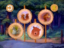 "The DVD's set-top trivia game ""Trample Off, Eh?"" asks questions about animals and ""Brother Bear 2."""