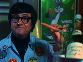 """What's up, Doc?"" asks Looney Tunes director Bob Clampett, with a carrot in hand."