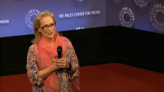 "Academy Award winner Meryl Streep discusses ""Bully"" and bullying in a short clip from an appearance at The Paley Center for Media."