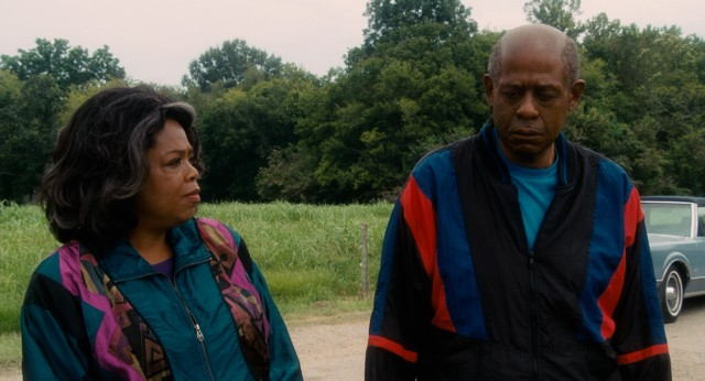 "Judging from the windbreakers worn by Gloria and Cecil Gaines (Oprah Winfrey and Forest Whitaker), it must be the '90s. ""Lee Daniels' The Butler"" uses both make-up and costumes to depict the passage of time."