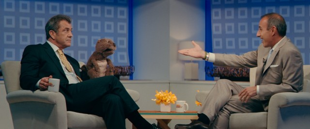 "In real life, Mel Gibson has avoided talk shows for the past year. As Walter Black, though, he and his beaver chat with Matt Lauer on ""The Today Show."""