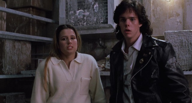 Cheerleader Meg Penny (Shawnee Smith) and rebel Brian Flagg (Kevin Dillon) conveniently discover that The Blob is vulnerable and resistant to cold temperature.