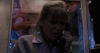 Waitress Fran Hewitt (Candy Clark) picked the wrong time to phone a friend. Now she's trapped in a glass case of emotion surrounded by the Blob.