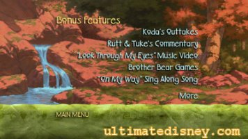 Brother Bear: 2-Disc Special Edition Preview Brother Bear Dvd Menu