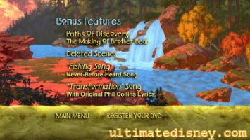 Brother Bear Disc 2 Bonus Features Menu