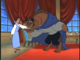 All it takes is a kiss and Belle forgets all about the rudeness, the temper, and the whole 'he's a beast' thing.