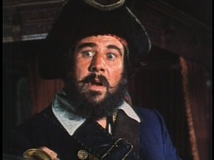 Peter Ustinov as the dread pirate Blackbeard.