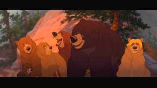 "A frame from ""Brother Bear"" in its 2.35:1 theatrical aspect ratio"