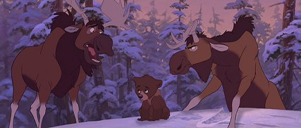 "Koda finds himself in between the amusing moose Rutt and Tuke in ""Brother Bear"", which is not a sophisticatedly-titled prequel to ""Song of the South."""