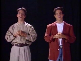 "It might look like two young Tom Cruises, but in fact it is just one Sylvester ""Sly"" Winkle (Michael Cade), the California Dreams' loathsome classmate/manager, the sitcom's first choice for goofy double duty."