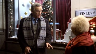 Grumpy store owner J.R. Finley (Tom Butler) needs to change his outlook on Christmas, something Mrs. Miracle intends to help him with.