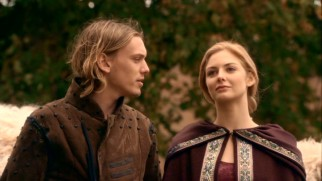 Arthur (Jamie Campbell Bower) is smitten enough by Guinevere (Tamsin Egerton) to form a love triangle with her and his champion knight.