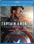 Captain America: The First Avenger: Limited 3D Edition (Blu-ray 3D + Blu-ray + DVD + Digital Copy) combo pack cover art - click to buy from Amazon.com