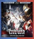 Captain America: Civil War Blu-ray 3D + Blu-ray + Digital HD combo pack cover art -- click to read the press release
