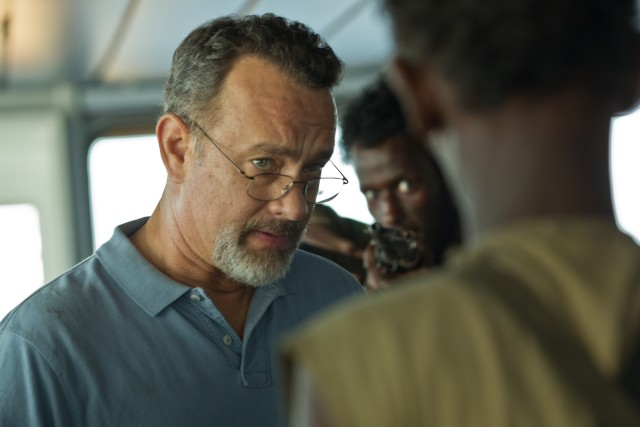 """Captain Phillips"" stars Tom Hanks as Richard Phillips, the captain of a cargo ship hijacked by pirates."