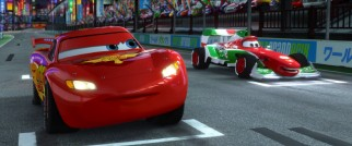Braggadocious Italian Formula One car Francesco Bernoulli brings out Lightning McQueen's competitive juices in Tokyo and beyond.