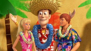 "Woody gives Barbie and Ken a snowy, improvised ""Hawaiian Vacation"" from the comforts of Bonnie's bedroom."