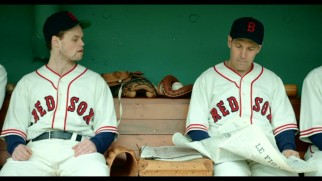 Ooh la la, Moe Berg (Paul Rudd) reads a French newspaper in the dugout to the bemusement of his fellow Boston Red Sox in this deleted scene.
