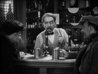Former butler Alf Bridges (Herbert Mundin) sees his life go downhill after he opens a bar and drinks the profits.