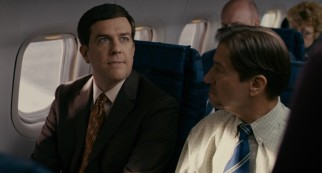 The convention in Cedar Rapids gives Tim Lippe (Ed Helms) his first taste of airplane travel.