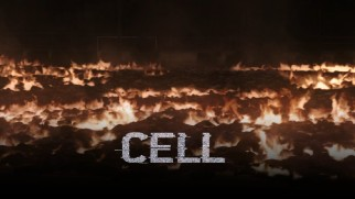 "The bodies of ""phoners"" burn, baby, burn on the ""Cell"" Blu-ray menu."
