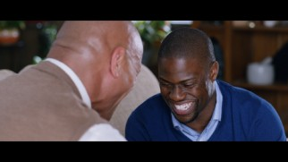 Dwayne Johnson and Kevin Hart crack up in the Central Intelligence gag reel.