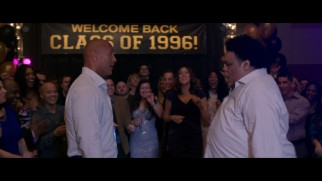 Dwayne Johnson engages in a dance-off with his high school dance double Sione Kelepi.
