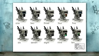 This Art of Chappie gallery still shows off ten head designs considered for Chappie.