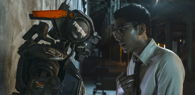 Robot inventor Deon Wilson (Dev Patel) gives former scout Chappie a mind of his own using an artificial intelligence program.