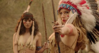 In one of Charles Swan III's fanciful fantasies, ex-girlfriend Ivana (Katheryn Winnick) leads a tribe of scantily-clad white Indian women (including Mary Elizabeth Winstead) in an attack on men.