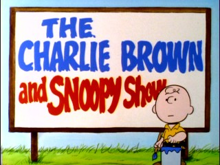 Snoopy paints the second half of the title in Season 1's opening sequence.