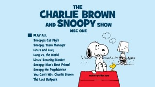The Charlie Brown and Snoopy Show DVD cover art is used as the one menu screen on Disc 1.
