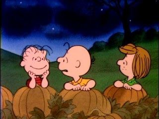 If it's Halloween, then you can bet that Linus is awaiting the Great Pumpkin down at the pumpkin patch.