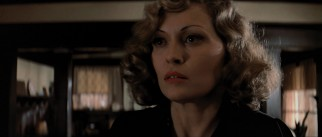 Evelyn Mulwray (Faye Dunaway) serves as widow, suspect, client, and love interest.