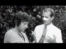 Jack Nicholson consults Roman Polanski during the filming of an orange grove scene in a photo from the retrospective featurettes.