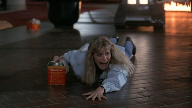 "In ""Chopping Mall"", all hell breaks loose when robotic security guards turn deadly."