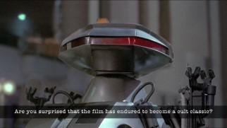 "A killbot answers questions about the movie in a most economical fashion in ""The Robot Speaks."""