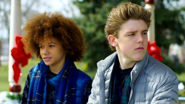 "Eddie Kirkpatrick (Sean Ryan Fox), seen with his friend Taz (Armani Jackson), gets to relive Christmas Day in ""Christmas All Over Again."""