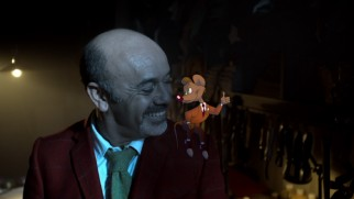 "French footwear designer Christian Louboutin gets some help from cartoon friends in the short ""The Magic of the Glass Slipper: A Cinderella Story."""