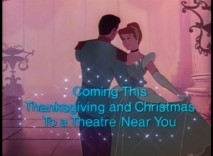 Cinderella's holiday season 1981 theatrical reissue is promoted in this trailer.